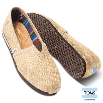 TOMS 亞麻布懶人鞋-男款
