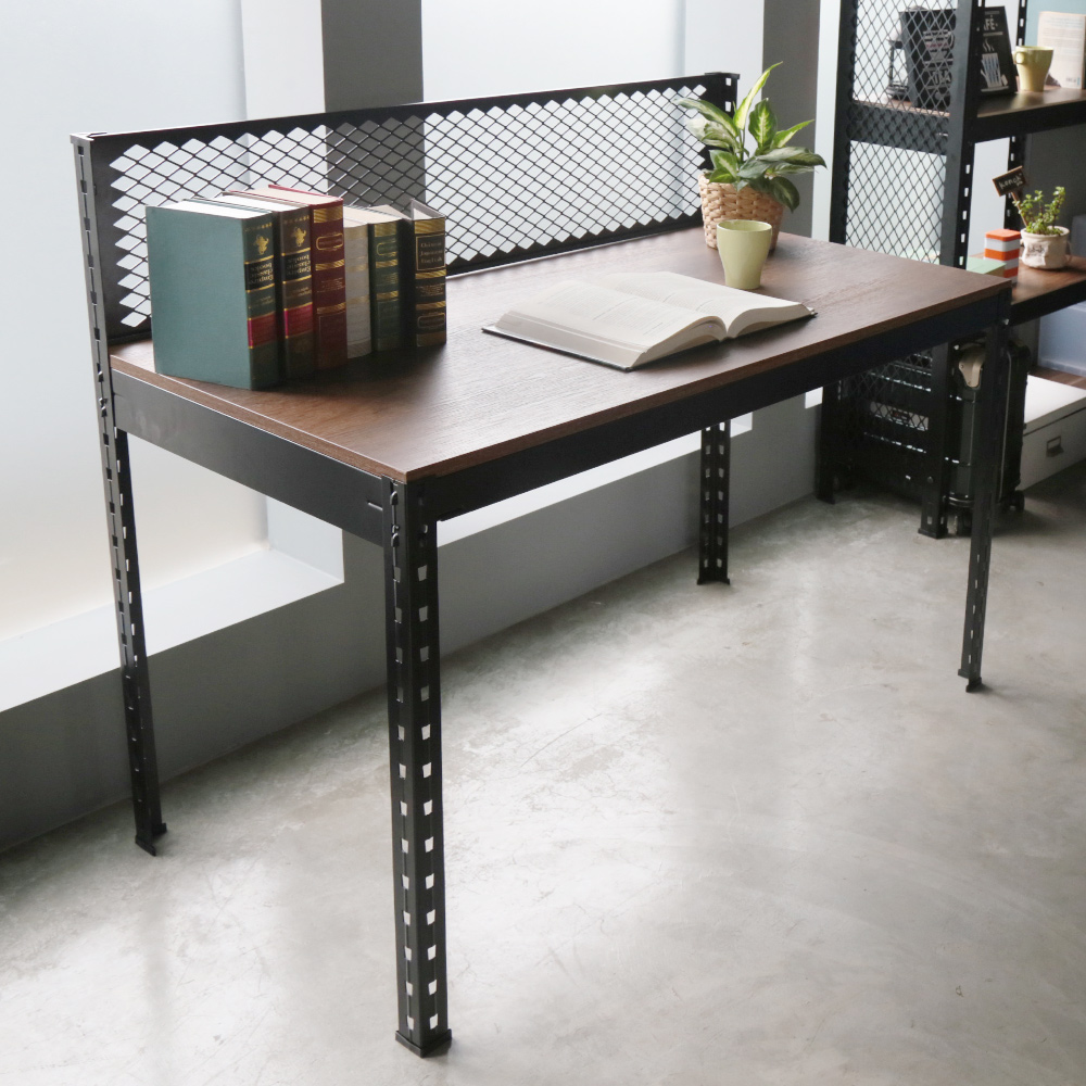 H&D 角鋼美學-工業風免鎖角鋼書桌/工作桌-4色(122x62x105cm)