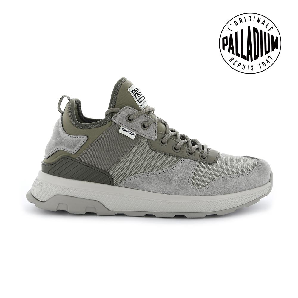 Palladium AX_EON ARMY RUNNER復古慢跑鞋-男-化石灰
