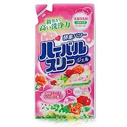 日本Mitsuei美淨易玫瑰花香酵素洗衣精補充包0.8kg