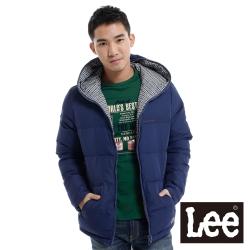 Lee 羽絨外套 兩面穿連帽拉鍊-男款