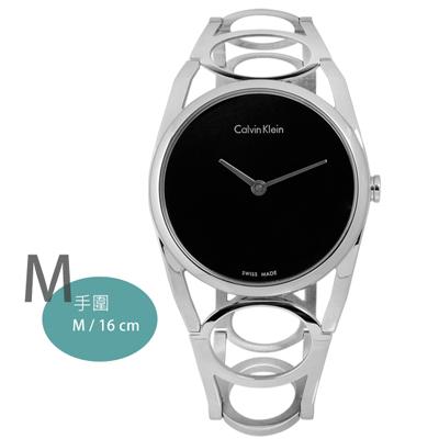 CK-Stately當代優雅精緻不鏽鋼手錶-黑色