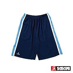 SASAKI 長效性吸排籃球短褲-男-丈青/北卡藍