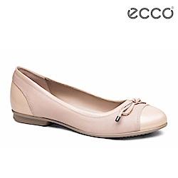 ECCO TOUCH BALLERINA 女 拼接漆皮娃娃鞋-粉