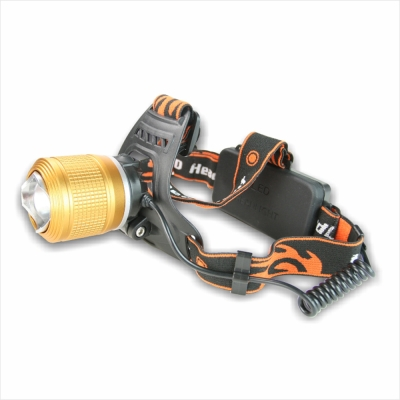 KINYO 充電式LED金屬雙燈珠頭燈(LED-617)