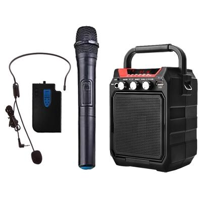 大聲公巧巧型無線式多功能行動音箱/喇叭 (手持+耳掛麥克風組)