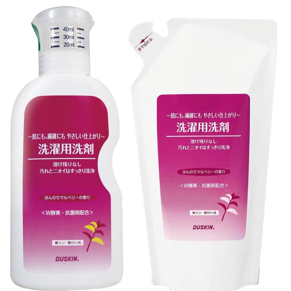 日本DUSKIN 高效抗菌洗衣精600ml/瓶+補充包500ml/包