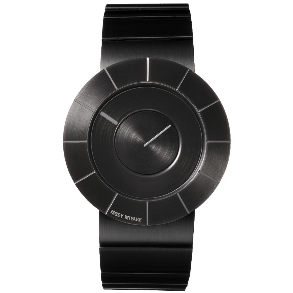 ISSEY MIYAKE 三宅一生TO系列 前衛金屬設計手錶SILAN002-黑/38mm