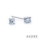 A-LUXE 亞立詩 18K金 總重0.16克拉 四爪鑲單顆美鑽耳環
