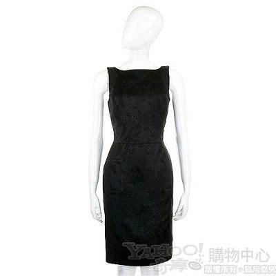 KENZO-antonio marras 黑色繡花無袖洋裝
