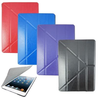 DW-L67瘋馬紋變形金剛iPad Air(iPad5)平板皮套(加贈螢幕保護貼)