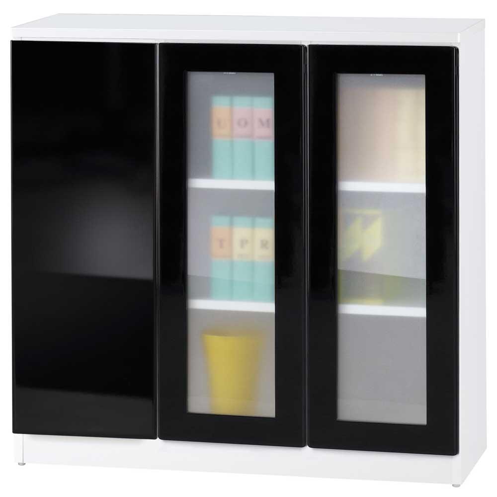 《夢想家》威尼斯3尺雙玻璃門單密門鏡面PU書櫃