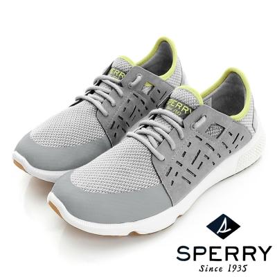 SPERRY 全新進化7SEAS幾何鏤空時尚休閒女鞋(迷離灰)