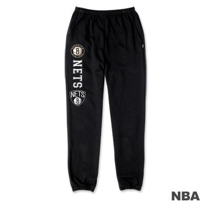 NBA-布魯克林籃網隊印花縮口綿長褲-黑色-女