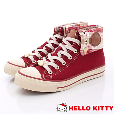 Hello Kitty-凱蒂勛章休閒款-NI13045紅(女段)