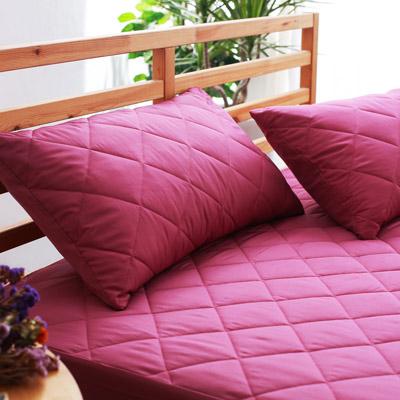 美夢元素 繽紛馬卡龍保潔枕頭套二入〈黑醋栗紫〉