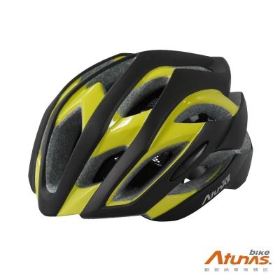 《ATUNAS BIKE》歐都納 單車 MOBILE SUIT 安全帽 黑/亮黃