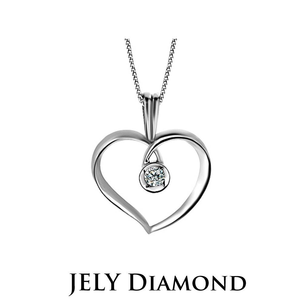 JELY 愛情合約 約10分天然真鑽項鍊