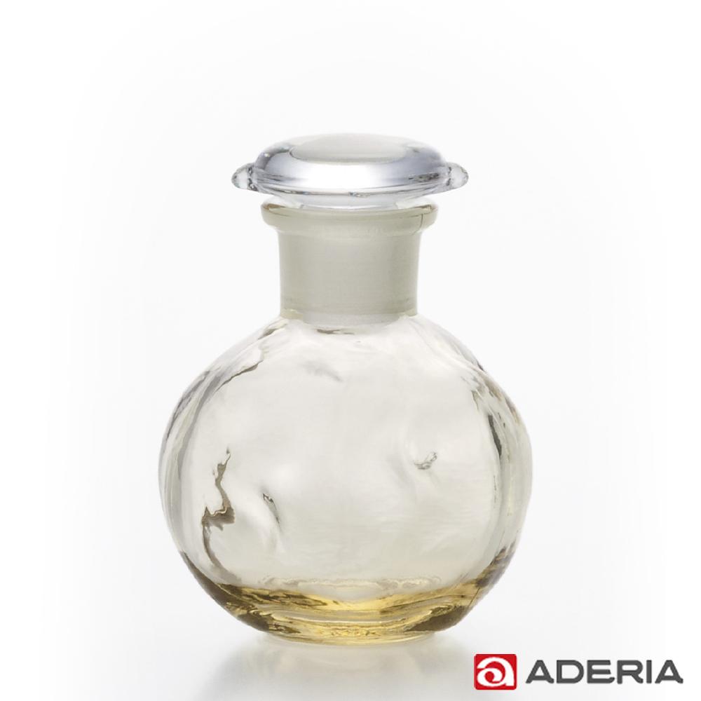 【ADERIA】日本進口圓形玻璃調味罐80ml(黃)
