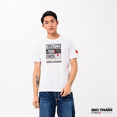 BIG TRAIN 松永久秀圓領短袖-男-白色