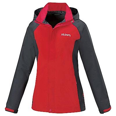 【ATUNAS 歐都納】女款防水GORE-TEX單件式外套A3-G1516W紅/灰