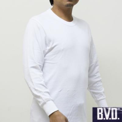 BVD 台灣製時尚型男厚棉圓領長袖衛生衣 2件組