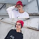 DADA SUPREME 潮流釦環裝飾毛帽-男女-紅