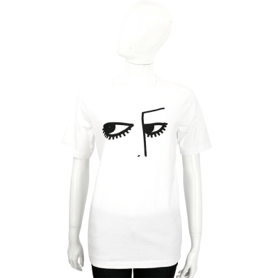 DSQUARED2 白色抽象圖騰棉質T恤