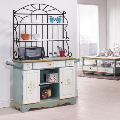 AS-喜諾莉4尺仿古雕花餐櫃組-39x123x178cm