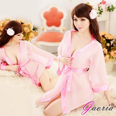 Gaoria 清純小百合 誘惑睡衣睡裙 外罩衫 睡袍