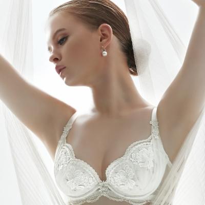 推Audrey-異戀托斯卡尼 大罩杯C-E罩內衣(浪漫白)