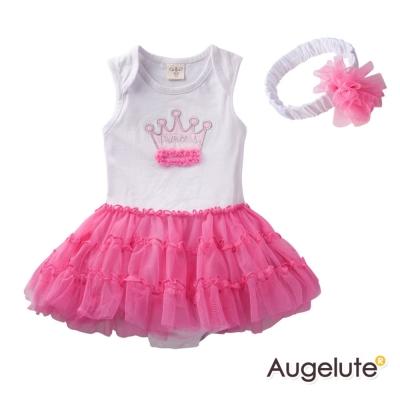 baby童衣 嬰兒洋裝 皇冠造型蛋糕裙附髮帶 52212