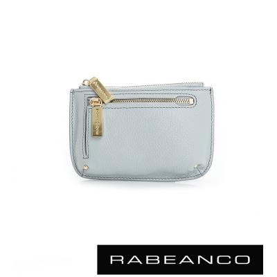 RABEANCO 迷時尚系列雙拉鍊零錢包(大) - 淺藍
