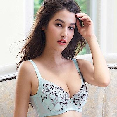 EASY SHOP-花園秘戀 大罩杯B-E罩成套內衣(清新綠)