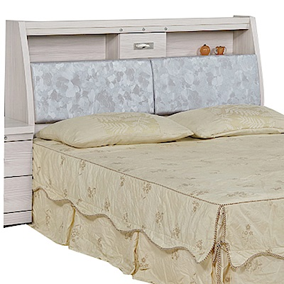 品家居 貝克3.5尺雪松木紋皮革單人床頭箱-106x30.5x107cm免組