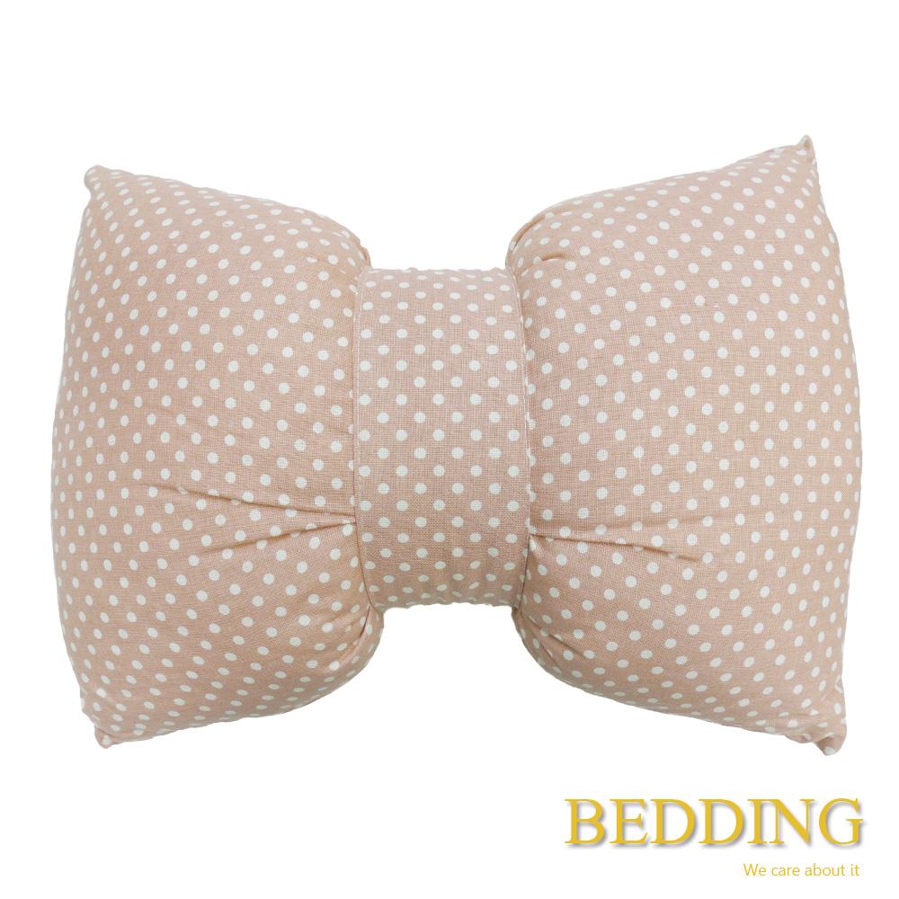 BEDDING  蝴蝶結護腰枕-粉色