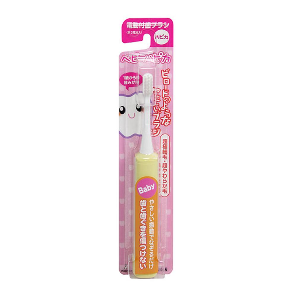日本 AKACHAN 阿卡將 負離子電動牙刷 (0~3歲 / 黃色)