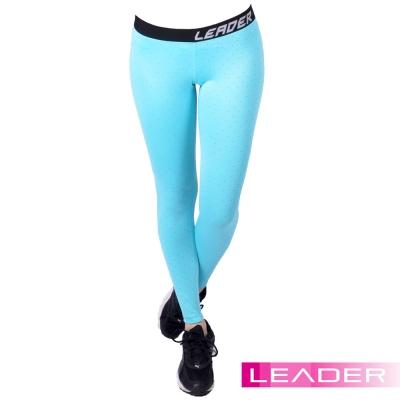 Leader 女性專用 DotFit運動壓縮緊身褲 (藍底小點)