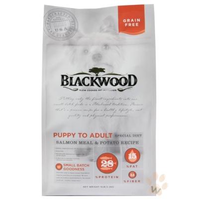 BLACKWOOD柏萊富-無穀全齡犬 低敏挑嘴配方(鮭魚+豌豆)15磅