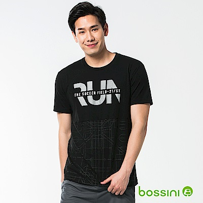 bossini男裝-速乾短袖圓領上衣08黑