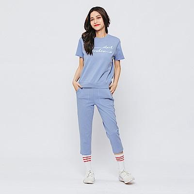 Hang Ten - 女裝 - 基本純色運動長褲-藍色