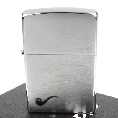 【ZIPPO】美系~Pipe Lighter~煙斗用打火機~拉絲打磨電鍍鉻款