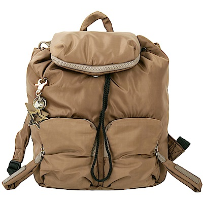 SEE BY CHLOE Joy Rider 前袋設計尼龍後背包(咖啡色)