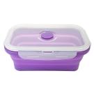 Quasi疊樂矽膠長保鮮盒 紫 540ml (8H)