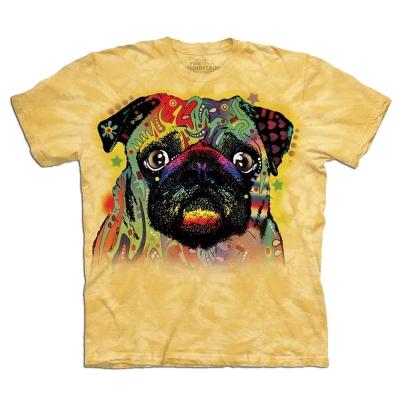 摩達客-美國進口The Mountain彩繪巴哥 純棉環保短袖T恤
