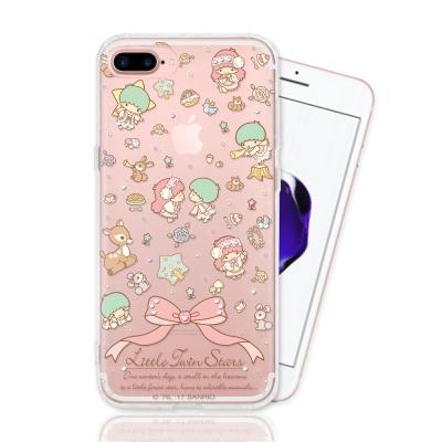 KIKILALA 雙子星 iPhone 7 plus 彩繪空壓手機鑽殼-森林物語