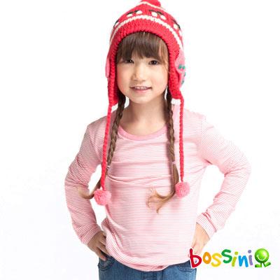 bossini 童裝-智慧溫紗調溫條紋上衣(嫩玫瑰色)