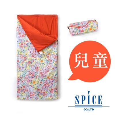 【SPICE】信封式 兒童印花 防水 可拼接 睡袋 -  花朵