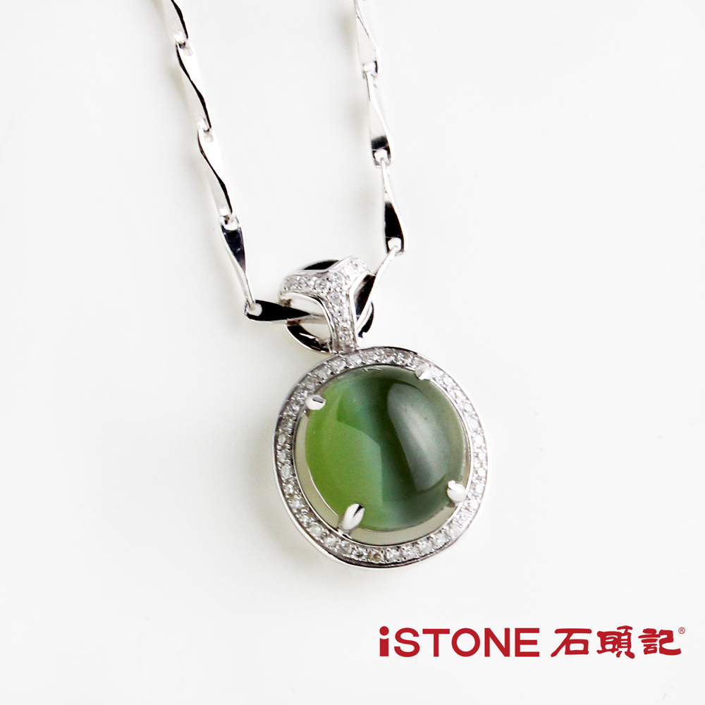 石頭記 典藏18K金金貓眼項鍊-圓潤高雅