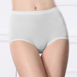內褲 天絲棉質M-Q(2XL)高腰內褲 低調灰 可蘭霓Clany